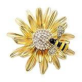 Useful and practical1 broche de abeja Daisy para mujer, corpiño, boda, novia, pin, bufanda, clip, joya, bolso, decoración, publicado