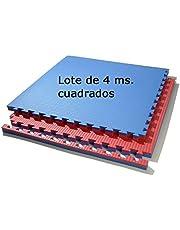 Grupo Contact Lote 4 MTS. Suelo Tatami (Rojo/Azul) de 2 cmts.