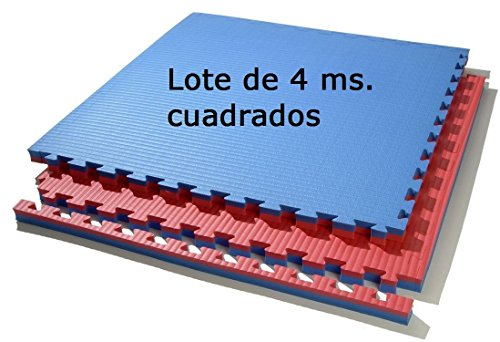 Lote 4 MTS. Suelo Tatami (Rojo/Azul) de 2 cmts