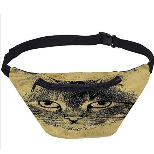 Paquete de riñonera para gatos, de Grunge Kitty, para hombres y mujeres