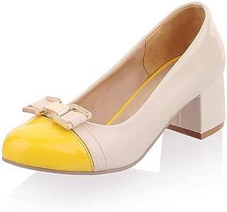 BalaMasa Womens Assorted Colors Novelty Bows Urethane Pumps Shoes APL10444