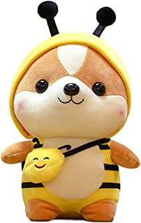 Apostasi Cute Squirrel Shiba Inu Dog Plush Toy Pillow, Stuffed Soft Animal Pillow, Plush Big Stuffed Animal Dolls Cuddly C...