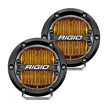 Rigid Industries 36111 360-Series 4 SAE J583 Fog Light - Selective Yellow, Pair