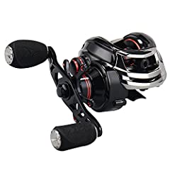 GREAT FOR BEGINNERS – The 1st Generation Royal legend baitcasting reel has one of the best dual brake systems with a quick, easy to fine-tune reliable centrifugal and magnetic brake system for superior casting control. If you are new to baitcasters o...