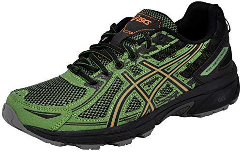 ASICS Men's Gel-Venture 6 Running Shoes, 12M, Cedar Green/Lava Orange