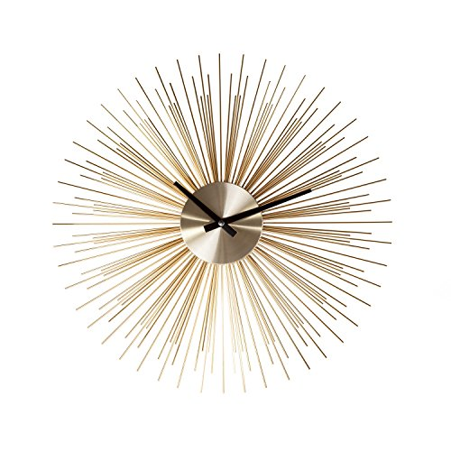 Stilnovo G133719GOLD Urchin Clock-Gold, Pack of 1