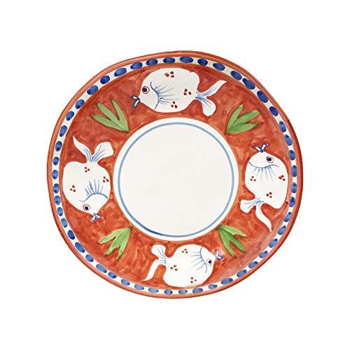 Juego de 2 platos de fruta y aperitivos de cerámica POSEIDONE 23 cm Arcucci (naranja)