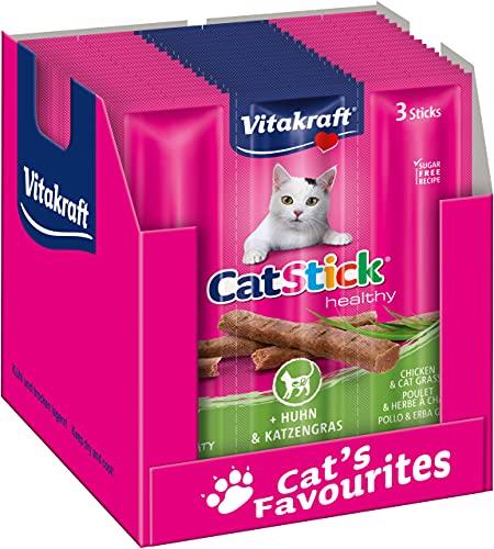 Vitakraft Katzensnack Cat Stick Huhn und Katzengras, 20x 3 St