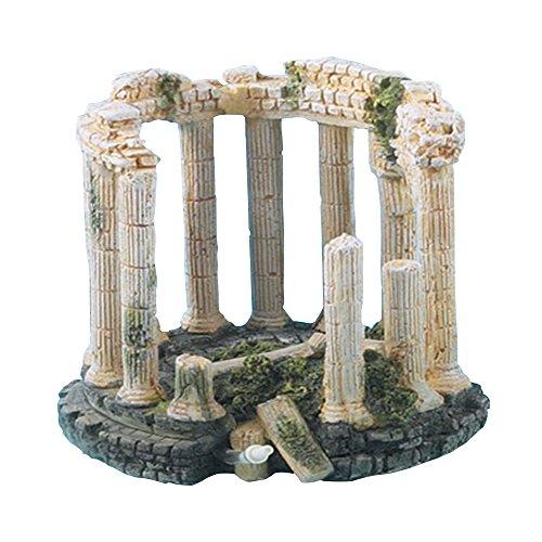 Polyresin Roman Columns Aquarium Decoration 17cm