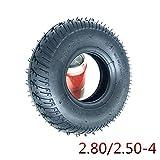 Neumáticos scooter eléctrico, neumáticos internos y externos 9 pulgadas 2.80 / 2.50-4, antideslizantes y resistentes desgaste, adecuados para scooters / sillas ruedas eléctricas / carros planos para