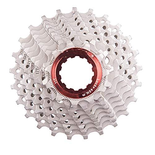 Vélo de Route 8 9 10 11 Vitesses Cassette 11-25 T 11-28 T vélos pignons de Roue Libre compatibles pour Le système Sunrace Shimano HG Silver 9S 11-25t