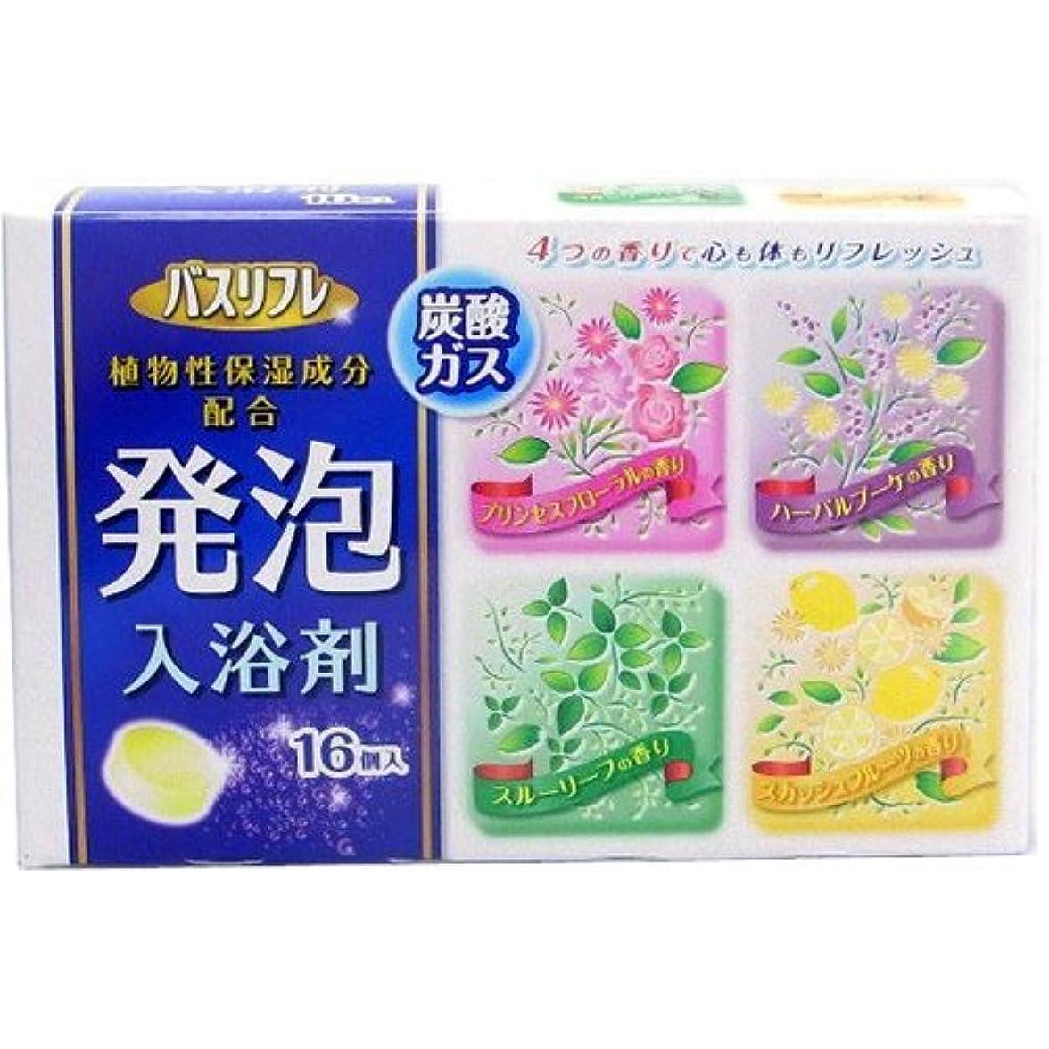 投票慢性的話をするバスリフレ 薬用発泡入浴剤 16錠 [医薬部外品] Japan