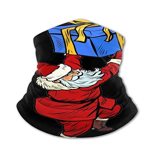 ZSMJ Santa Claus Box - Pañuelo para el cuello y la cara, lavable