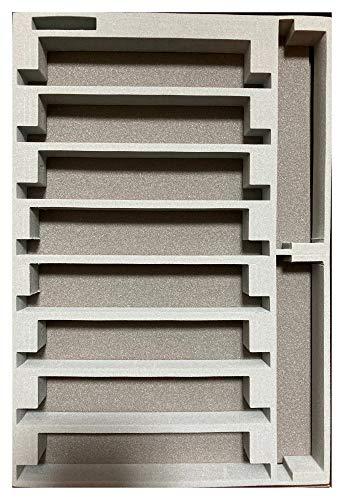 A4ブックタイプ Nゲージ車両収納ケース 交換用10両収納中敷ウレタン 新設計品