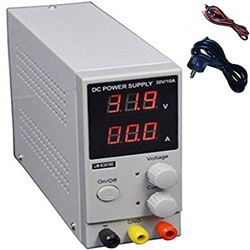 DOBO Versione MINI Alimentatore Stabilizzato da banco compatto Slim Trasformatore corrente professionale regolabile fino a 30V e 10A - max 10A