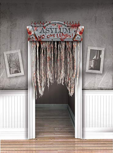 Amscan 248977 Asylum Bloody Doorway Curtain, 1 piece Multi Color, 54' x 38'