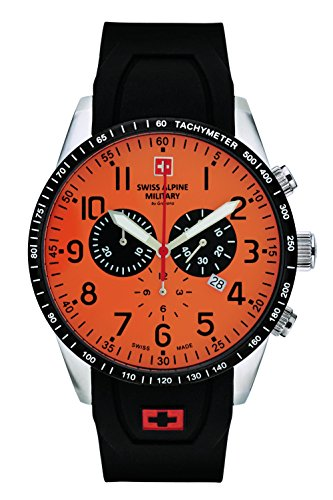Swiss Alpine Military by Grovana Herrenuhr Chrono 10 ATM Orange 7082.9839SAM