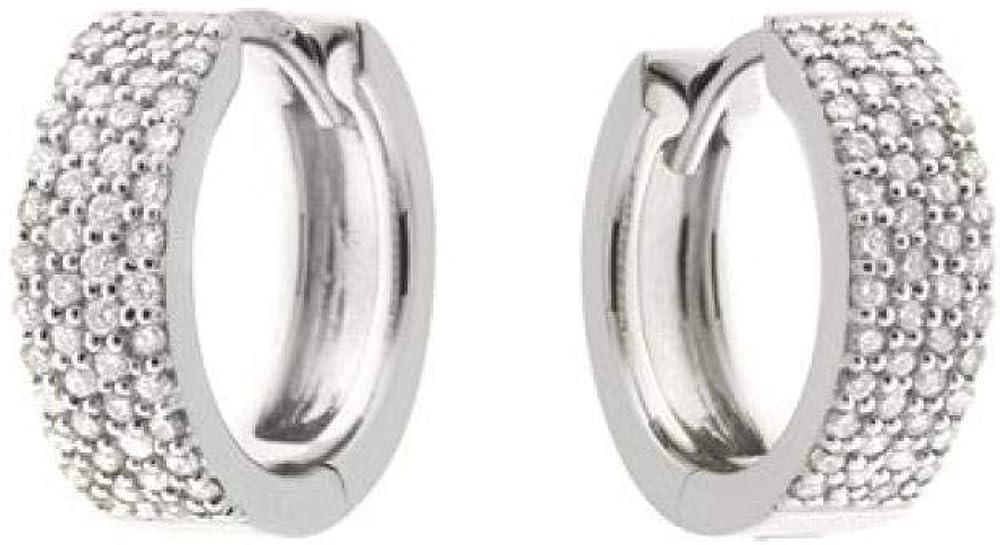 Chimento,orecchini oro bianco 18 kt(3,8 gr), impreziositi da diamanti 0,37 ct 1O07963BB500P