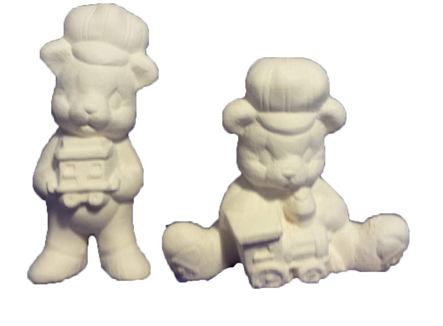 Teddy Bear w train ornaments 3