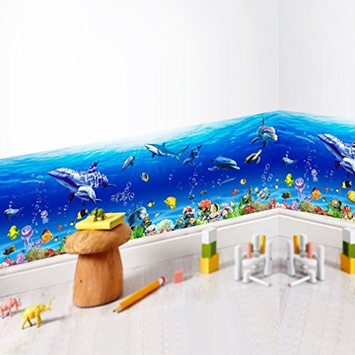 Bodhi2000® Sea World - Adhesivo Decorativo para Pared, diseño de Mundo marítimo, extraíble