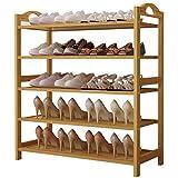 UDEAR Bamboo Shoe Rack 5-Tier Shoe Storage Organizer Entryway Shoe Shelf