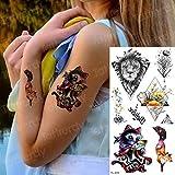 tatuaggio ragazze donne tatuaggio piuma uccelli acquerello tatuaggio tatuaggio a lunga durata triangolo fiore tatuaggio per bambini bambini-in Tatuaggi da TL233