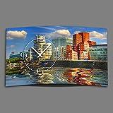 Digital Designer Art Düsseldorf Medienhafen Designer Wanduhr modernes Wanduhren Design leise kein ticken DIXTIME 3DS-0371