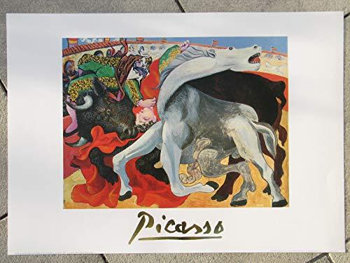 none La Corrida 1933 (Stierkampf) Picasso, Kunstdruck 50 x 70 cm