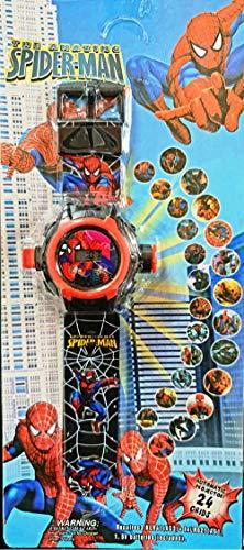 Spiderman Image Reloj de pulsera de proyector digital para niños Smart Watch 24 dibujos animados imagen patrón