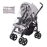 Safe Haven Universal Rain Cover for Buggy, Stroller Pram and Pushchairs with Bag, Thin, Flexible EVA Material, Odorless, for Rain, Wind and Snow