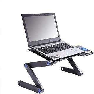 Ordinateur Portable Bureau Pliable PC en Alliage d'aluminium Panneau 5V Ventilateur de Refroidissement Pliable Pieds Suppo...