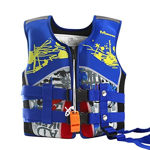 WYTbaby Kids Swim Vest Neoprene Float Swimming Jacket Boys Swimwear Blue, 6-9 Years