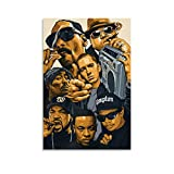 HD Poster Eminem Ice Cube Dr Dre E Snoop Dogg Poster Decorative Painting Canvas Wall Art Living Room Posters Bedroom Painting 08x12inch(20x30cm)