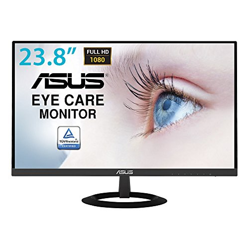ASUS VZ249HE 24 Inch (23.8 Inch) Monitor, FHD (1920 x 1080), IPS, Ultra-Slim Design, HDMI, D-Sub, Flicker Free, Low Blue Light, TUV Certified, Black