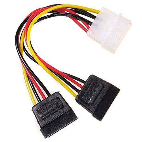 Maclean - mctv-632- kabel adapter adapter Molex pin op 2 x SATA, 15 cm