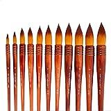 1piece de nylon acuarela de pelo cepillo de pintura de rima antigua acrílico Estilo Arte de la pintura del cepillo Suministros 40RT (Color : Number 10)