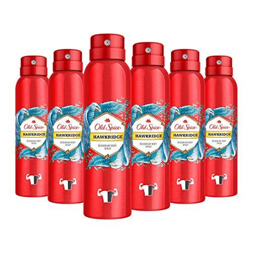 Old Spice Hawkridge Deodorant Bodyspray für Männer, 6er Pack (6 x 150 ml)