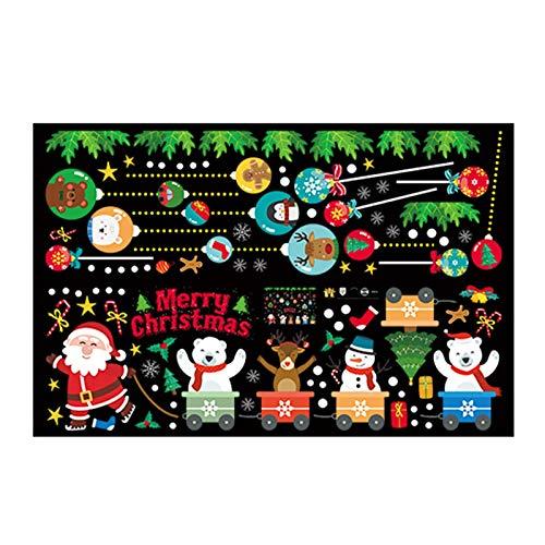 Hlyp Engomada de Santa, Regalo de la decoración de Navidad Etiqueta, Fiesta de cumpleaños de la decoración de Navidad, Diario de papelería Etiqueta (Color : Style C)