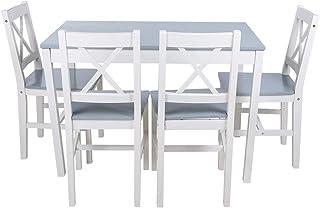 Conjunto de Mesa y 4 Sillas de Comedor, Conjunto de Muebles