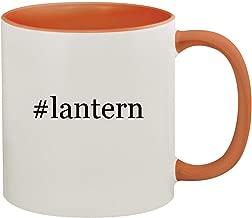 #lantern - 11oz Hashtag Ceramic Colored Inside & Handle Coffee Mug, Orange