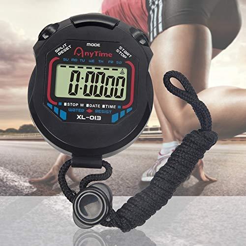 JSANSUI Countdown-Stoppuhr-Timer Wasserdicht Professionelle Sportspiel Stoppuhr Digital-Handheld-LCD-Display Timer