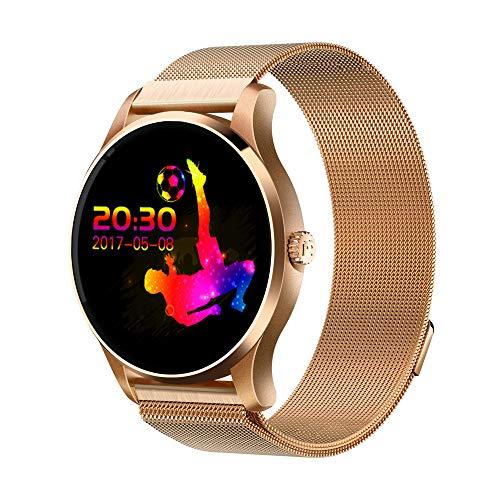 HappySDH waterdichte smartwatch K88H fitnessarmbandhorloge voor mannen en vrouwen - fitnesstracker met hartslag, stappenteller - slaapmonitor, oproepmeldingen, calorieënteller, UVM