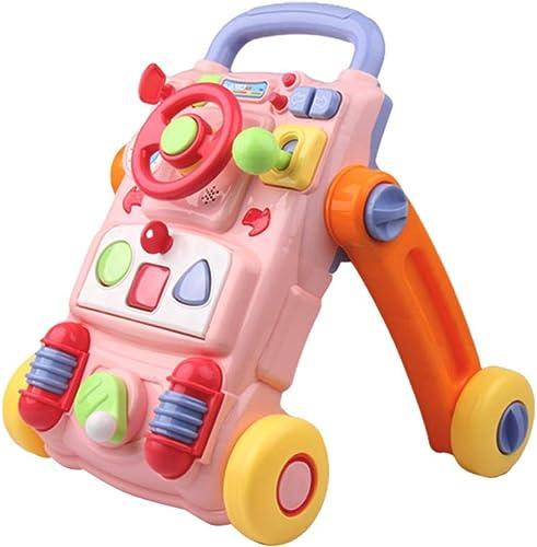 Walker Trolley Multi-Fonction à Quatre Roues   Toddler Music Puzzle pour Enfants éducation préscolaire Jouets 6-18 Mois FANJIANI