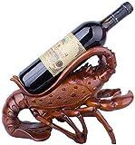 FGDSA Escultura Moderna Decoración Estante De Vino Estatua De Langosta Soporte De Botella De Vino Resina Adornos De Escultura Creativa Accesorios De Soporte De Vino Tinto Bar En Casa Regalo