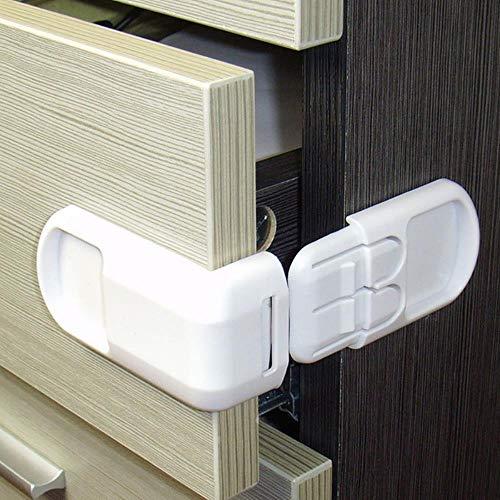 Phy 5 unidades de plástico Baby Protección contra niños en armarios cajas cajón puerta producto seguridad infantil