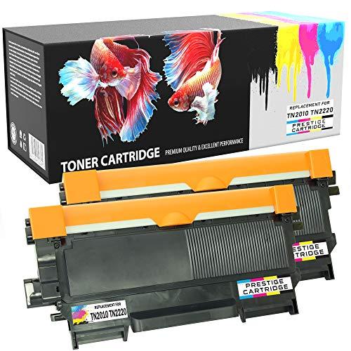 Prestige Cartridge TN-2010 TN-2220 Toner Kompatibel mit Brother HL-2130 HL-2132 HL-2135 HL-2220 HL-2230 HL-2240 2240D 2250DN 2270DW DCP-7055 7055W 7060D 7065DN 7070DW MFC-7460DN 7860DW | 2er Pack