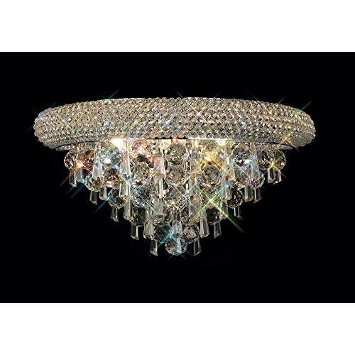 Inspired Diyas - Alexandra - Lámpara de pared mediana 3 cromo pulido claro, cristal