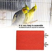 無害な鳥の止まり木、サポート、止まり木、ペットの鳥用(Red short side screw)