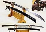 Hand Made Combined Material Clay Tempered Abrasive Japanese Samurai Naginata Sword