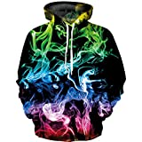 Hoodie Kids Boys and Girls, High-Definition 3D Printing Technology, Sweatshirts, Pocket Pullovers for 6-16 Years Old
